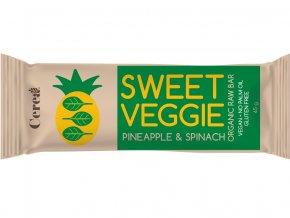 Bio tyčinka SWEET VEGGIE Ananas & Špenát raw 45g