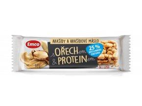 Tyčinka s ořechem a proteinem - arašídy a arašídové máslo 40g