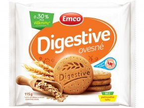 Digestive Ovesné 115g - křehké sušenky