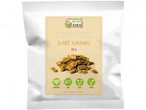 Bio kokosové chipsy slaný karamel 25g