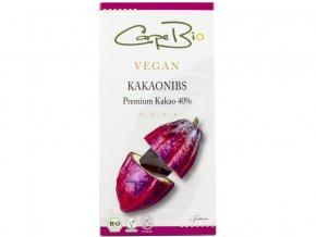 Bio Carpe čokoláda s kakaovými kousky 40% 100g