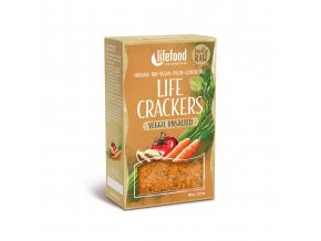 Bio Life Crackers Zeleninové bez soli RAW 90g