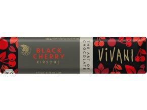 Bio tyčinka Čokoládová hořká s višněmi 35g