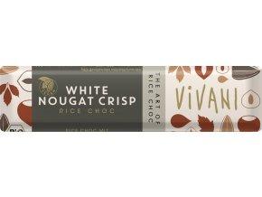 Bio tyčinka Nugátová bílá s rýžovým mlékem 35g