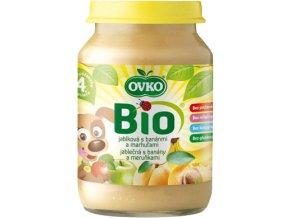 Bio Dětská výživa jablečná s banány a meruňkami OVKO 190g
