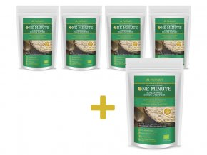 Bio Snídaňová směs One Minute Snack konopné semínko-skořice 300g AKCE 4+1