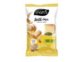 Lentil chips sýr, bylinky 85g