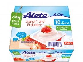 Jogurtový dezert jahodový 400g, min.trv. 17.5.2019