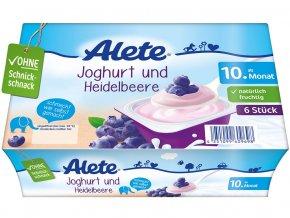Jogurtový dezert borůvkový 300g, min.trv. 18.5.2019