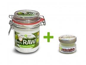 Bio 100% RAW Kokosový olej 300ml+ bambucké máslo 15ml ZDARMA