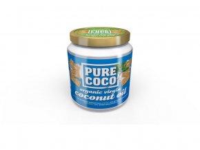 Bio Panenský kokosový olej 500ml Pure coco, min.trv. 22.9.2018