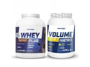 XXL Whey Plus Protein 2,25kg + Volume Matrix 2,27kg pomeranč-citron
