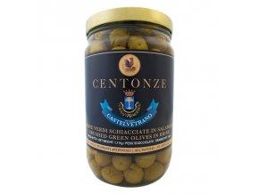 Crushed Green Olives in Brine (Naloupnuté zelené olivy s peckou) 1kg