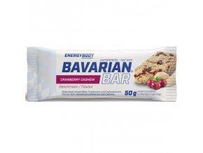 Tyčinka Bavarian Bar 50g brusinky - kešu