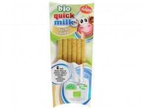 Bio Quick Milk Magická brčka do mléka s příchutí vanilka Amylon 6x6g