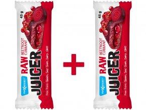 Raw juicer červená řepa a moruše s rybízovou náplní 45g, min.trv. 13.10.2018 1+1 ZDARMA