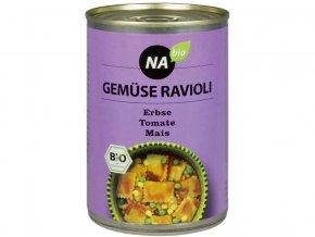 AKCE - Bio Zeleninové ravioly s rajčatovou omáčkou 400 g, min. trv. 16.3.2020
