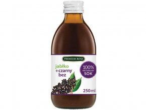 Bylinný nápoj s jabl. šťávou - Černý bez plod 250 ml