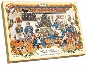 Čokoládové jazýčky mléčné - vánoce LADA 100g