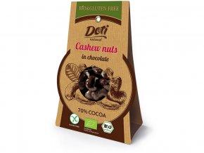 Bio kešu oříšky v čokoládě 50g - bez lepku