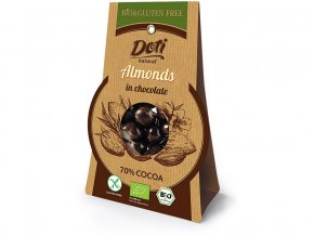 Bio mandle v čokoládě 50g - bez lepku