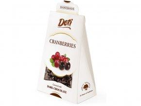 Brusinky v čokoládě - dárková taštička 100g