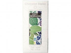 Bio hořká čokoláda máta moringa 70g