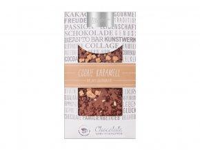 Zdobená mléčná čokoláda Cookie Caramel 100g