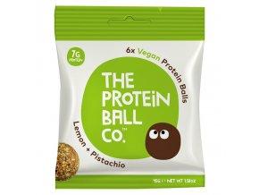 Vegan Protein Balls 45g (Veganské proteinové kuličky) lemon + pistachio