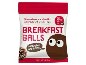 Breakfast Protein Balls 45g (Snídaňové kuličky) strawberry + vanilla