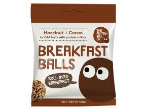 Breakfast Protein Balls 45g (Snídaňové kuličky) hazelnut + cacao