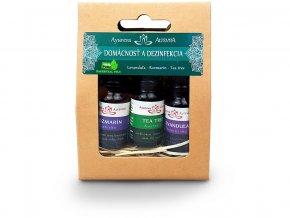 Esencialni oleje set Domacnost a Dezinfekce 3x10ml