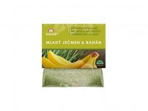 Bio snídaňová směs mladý ječmen-banán 60g