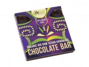 Bio čokoláda z nepraženého kakaa 70% kakao chia raw 35g