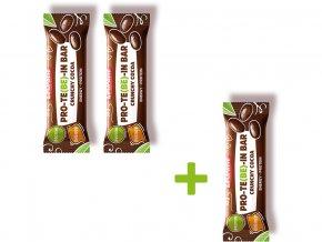 Tyčinka čokoládová s dýňovým proteinem CRUNCHY 35 g Akce 2+1