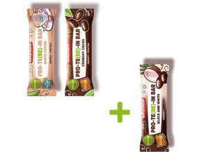 Protein mix (Crunchy cocoa, White coffee, Black&white) Akce 2+1