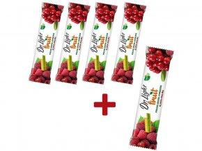 AKCE - Tyčinka ovocná Dr.Light Fruit Klikva - Malina 30g 4+1 ZDARMA