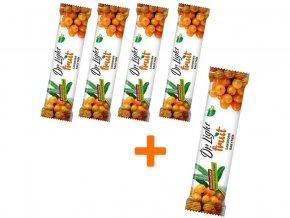 AKCE - Tyčinka ovocná Dr.Light Fruit Rakytník 30g 4+1 ZDARMA