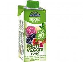 Nápoj FRUIT+VEGGIE jahoda, č.řepa 200ml