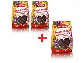 Ovocné nepečené sušenky Super-manky 40g AKCE 2+1