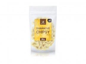 Bio Banánové chipsy solené 80g