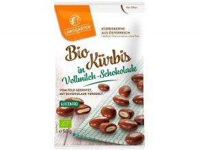 Bio Dýňové semínko v mléčné čokoládě 50g