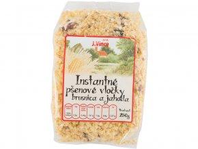 Instantní pšeničné vločky s brusinkami a jahodami 250g