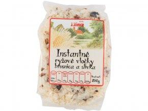 Instantní rýžové vločky s brusinkami a švestkami 250g