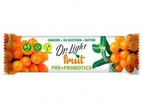 Tyčinka ovocná  Dr.Light fruit Rakytník PRE + PROBIOTIKA 30g