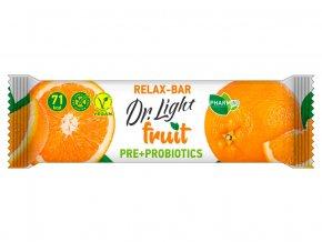 AKCE - Tyčinka ovocná  Dr.Light fruit Relax-Bar PRE + PROBIOTIKA 30g, min.trv. 22.3.2020
