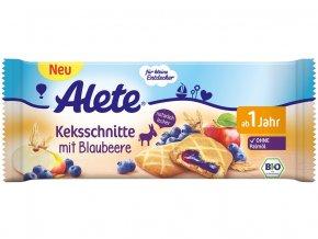 AKCE - Bio sušenka s ovocnou náplní s borůvkami (25%) 30g, min.trv.17.10.2019