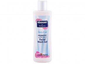 Probiotický čistící gel na tvář ultra jemný s růžovým olejem 230ml