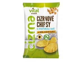 Chipsy cizrnové s mořskou solí 65g