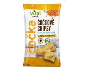 Chipsy čočkové s mořskou solí 65g